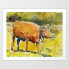 Cow, Bull you tell me? Art Print