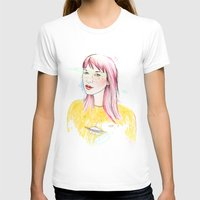 UFO Womens Fitted Tee White SMALL