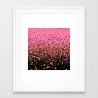 Framed Art Print featuring  Sparkles And Glitter Pi… by Saundra Myles