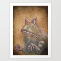 Medieval monster XIII Art Print