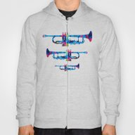 Colorful Trumpet 2 Art B… Hoody