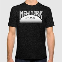 NYC Mens Fitted Tee Tri-Black SMALL