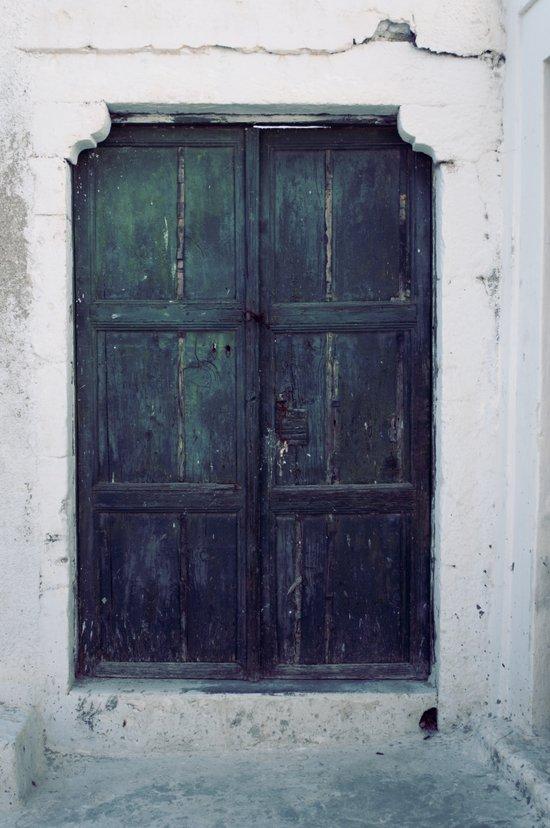 Santorini Door II Art Print