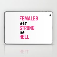 Females Strong Hell Gym Quote Laptop & iPad Skin