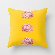 tridrangea Throw Pillow