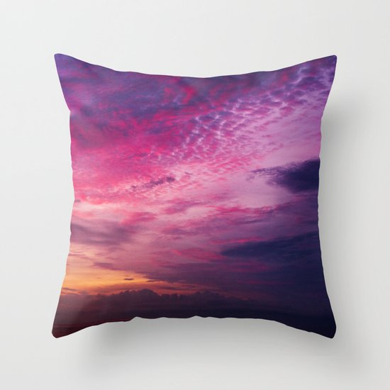 Red Sky Sunrise Throw Pillow
