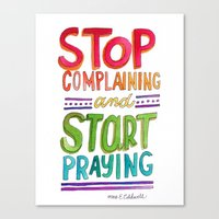 Start Praying Canvas Print