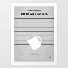 No095 My The usual suspects minimal movie poster Art Print
