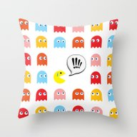 Pac-Man Trapped Throw Pillow