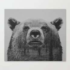 BW Bear Canvas Print