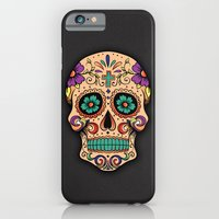 iPhone Cases featuring Sugar Skull by Edison Woland