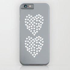Hearts Heart x2 Grey Slim Case iPhone 6s