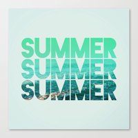 Summer Summer Summer Canvas Print