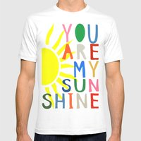 You Are My Sunshine Mens Fitted Tee White SMALL
