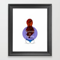 Summer Is Coming. Framed Art Print