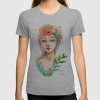 Goddess of  Spring Womens Fitted Tee Athletic Grey SMALL