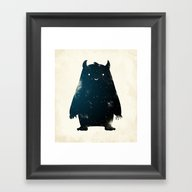 Mr. Cosmos (Color Versio… Framed Art Print