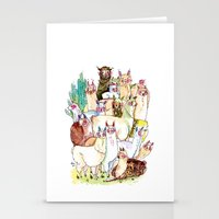 Wild Family Series - Lla… Stationery Cards