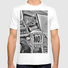 War is NOT the answer Mens Fitted Tee White SMALL