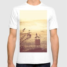La Barra Sunset White Mens Fitted Tee SMALL
