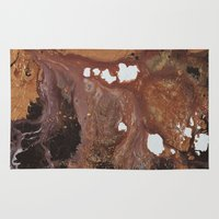 Copper abstract liquidity. Rug