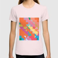 Color Story - Playtime Womens Fitted Tee Light Pink SMALL