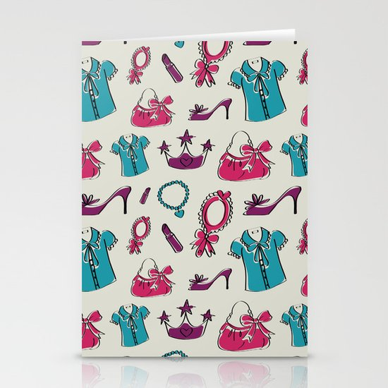 Lady pattern Stationery Card