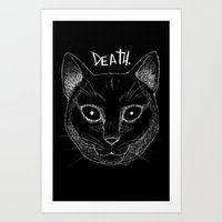 DEATH. (Black) Art Print