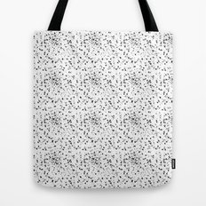 Speckled black and white Tote Bag