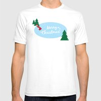 Ice Skater Mens Fitted Tee White SMALL