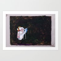Art Print featuring Fight by David Nuh Omar