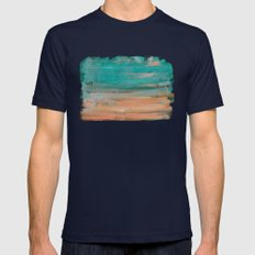 Paint faded text Mens Fitted Tee Navy SMALL