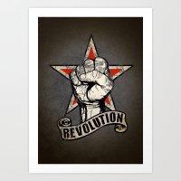 Up The Revolution! Art Print