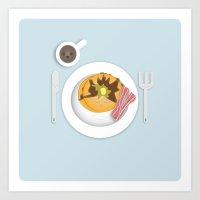 Breakfast Time! Art Print