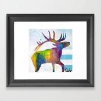Elle Elk Framed Art Print