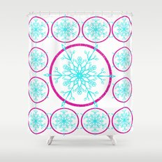Dream-catching a Snowflake Shower Curtain