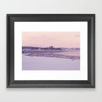 Nordic winter Framed Art Print