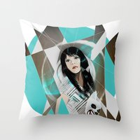 BAT FOR LASHES & The Mask Throw Pillow