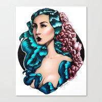 Flora (Color) Canvas Print