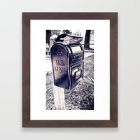 U.S. Mail Framed Art Print