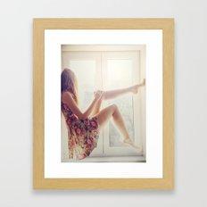 Waiting for summer Framed Art Print