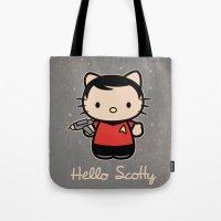 Hello Scotty Tote Bag