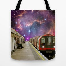 Sitting, Waiting, Wishing - London Tube Series Tote Bag