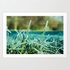on a cold and sunny morning Art Print