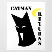Catman Returns Art Print