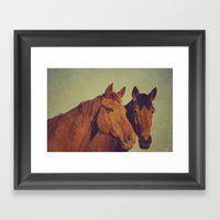 Here We Go Two By Two Framed Art Print