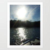 Floating Along Art Print