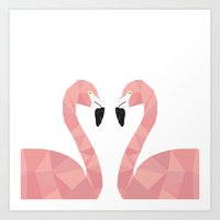 Abstract Flamingo Art Print