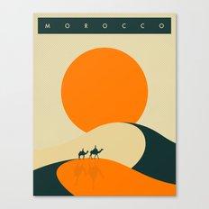 Morocco Travel Poster Canvas Print