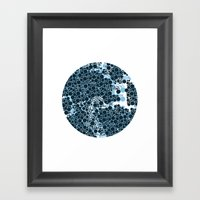 Blue Circles. Framed Art Print
